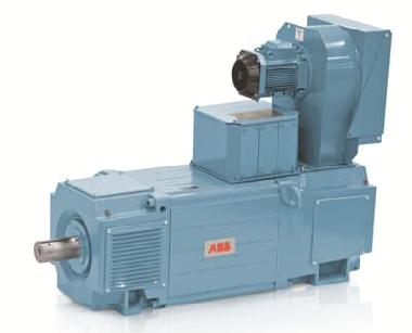 Light blue ABB dc motor approximately 500 horsepower
