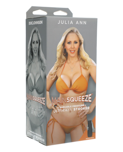 Main Squeeze Ultraskyn Julia Ann Pussy Stroker - Realistic Hard Case Male Masturbator