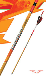 Instinct® Traditional Fletched Crested Hunting Arrows Red and White