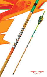Instinct® Traditional Fletched Crested Hunting Arrows Green and Yellow