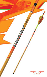 Instinct® Traditional Fletched Crested Hunting Arrows Yellow and Orange