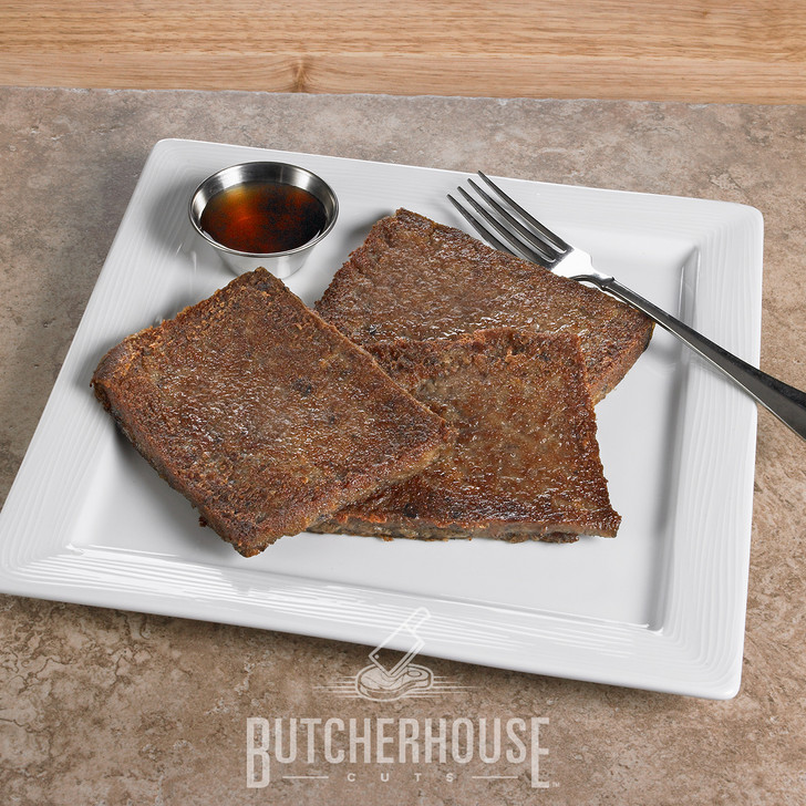 R&R Provision's PA Dutch Scrapple (Pon Haus). Original 85-year old recipe. Made with pork, cornmeal and buckwheat flour, plus our own mix of spices.