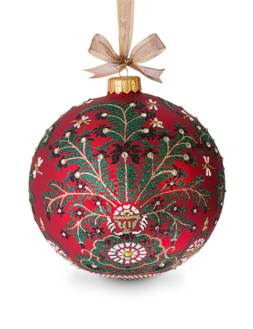 """Jay Strongwater Tree of Paradise Artisan 7"""" Ornament - Siam"""