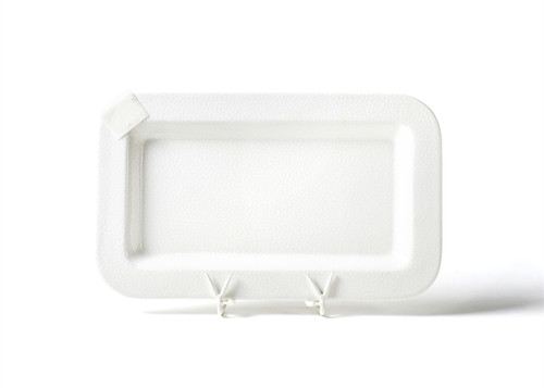 PRE-ORDER   - White Small Dot Mini Entertaining Platter by Happy Everything!