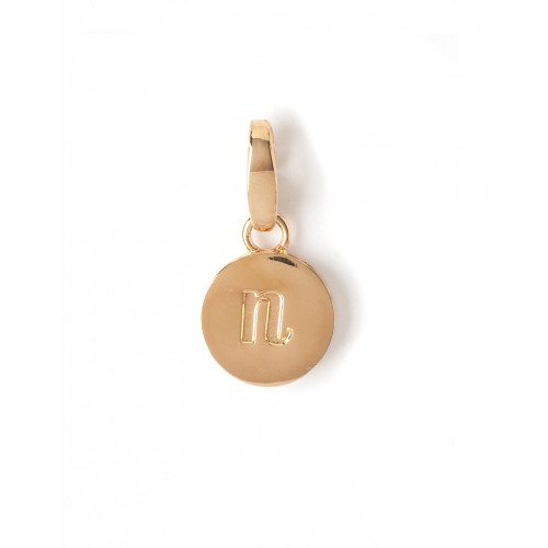 """Letter """"N"""" Round Crystal Charm - Style Spartina 449"""