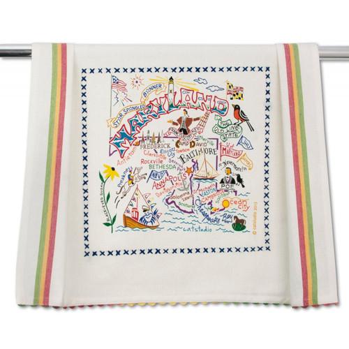 Maryland Dish Towel by Catstudio