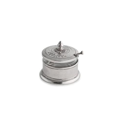 Peltro Condiment Bowl with Spoon - Arte Italica