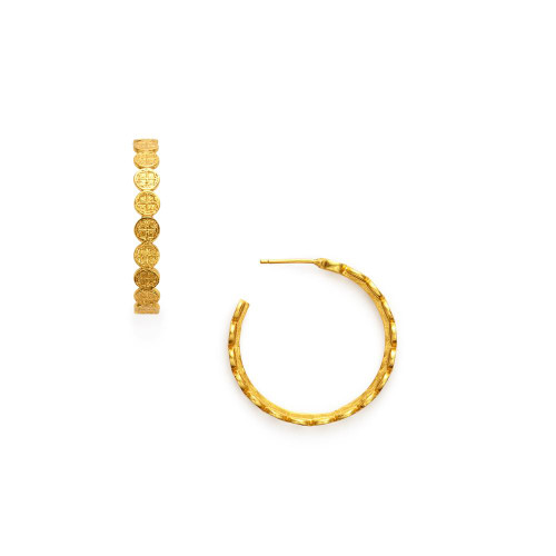 Julie Vos Valencia Hoop Earring -Gold