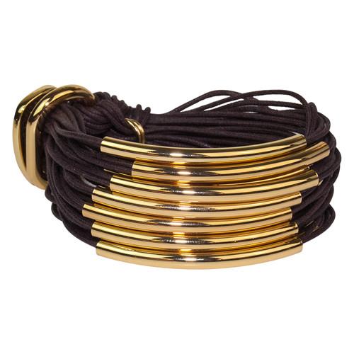 Chocolate Gold Multi Tube Bracelet by Gillian Julius