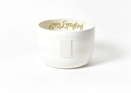 White Stripe Big Bowl by Happy Everything!