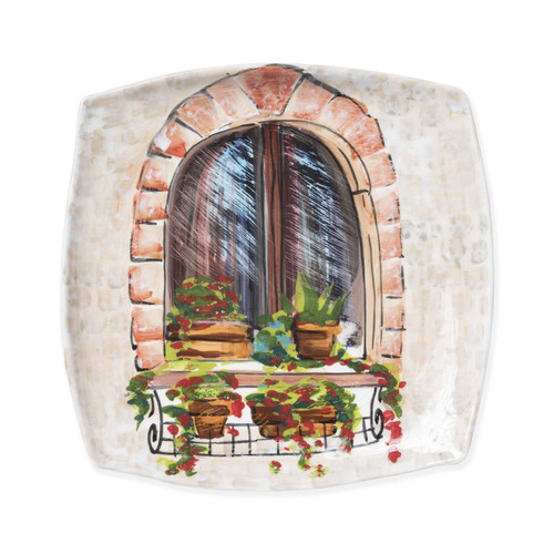 Vietri Landscape Closed Window Wall Plate - Special Order