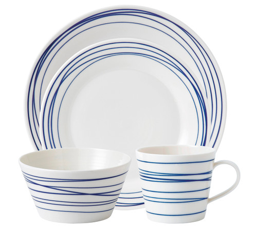 Pacific Lines 4-Piece Set by Royal Doulton