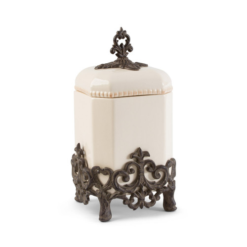 Provencial Small Cream Canister - GG Collection