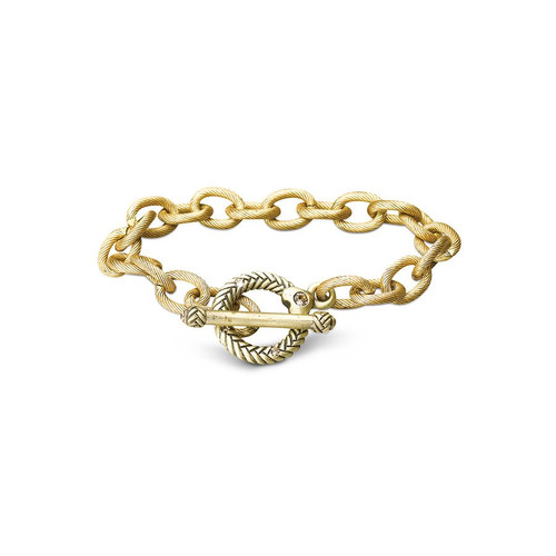 """Jay Strongwater Rhodes Toggle 8"""" Bracelet"""