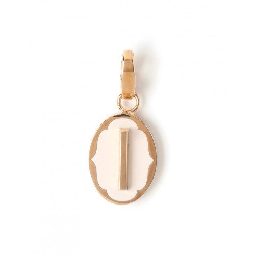 """Letter """"I"""" Oval Cartouche Charm - Style Spartina 449"""