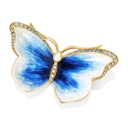 Jay Strongwater Julie Butterfly Trinket Tray - Special Order