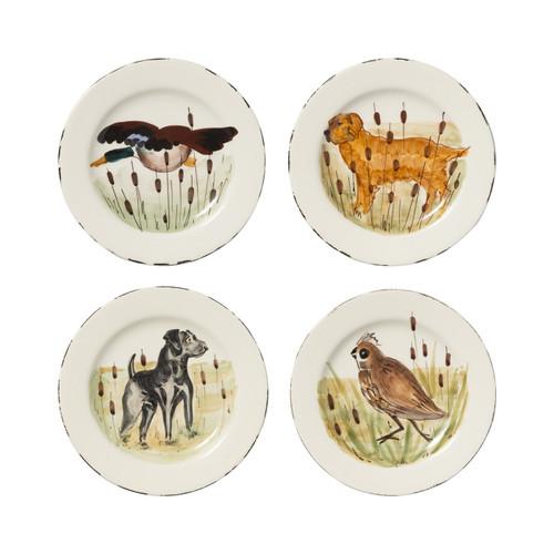 Vietri Wildlife Assorted Salad Plates - Set of 4 - Special Order