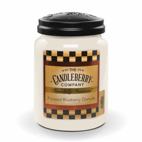 Frosted Blueberry Donuts 26 oz. Large Jar Candle Candleberry Candle