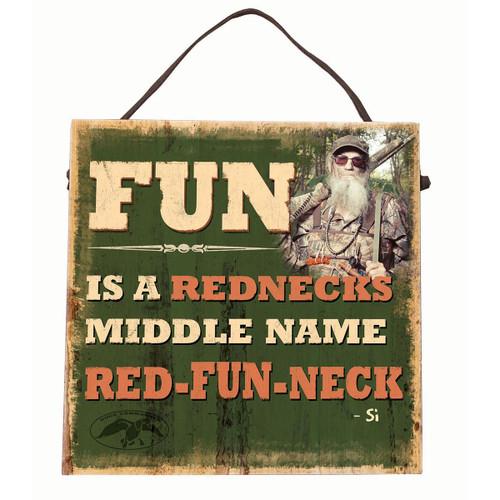 Duck Commander Red-Fun-Neck Sign