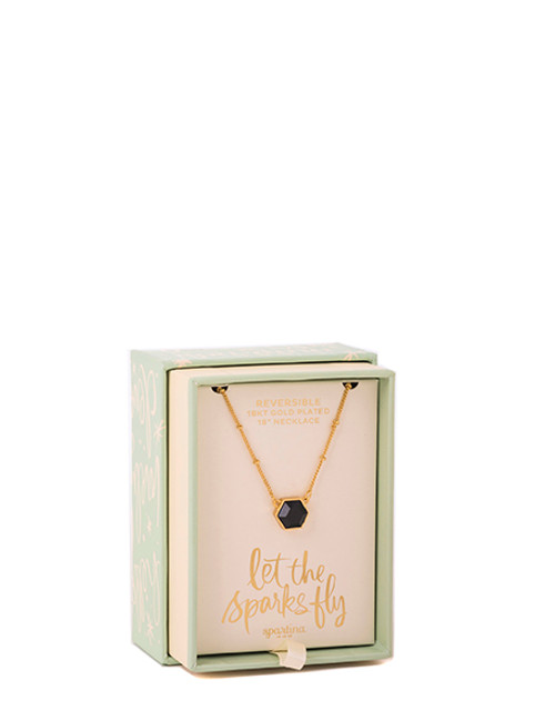 """Sparks Fly Oh So Witty 18"""" Necklace Box by Spartina 449"""