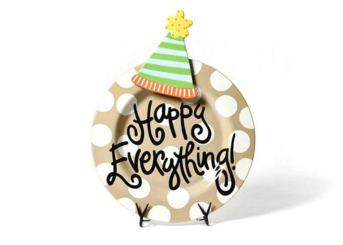 Neutral Dot Big Platter with Party Hat Big Attachment by Happy Everything!