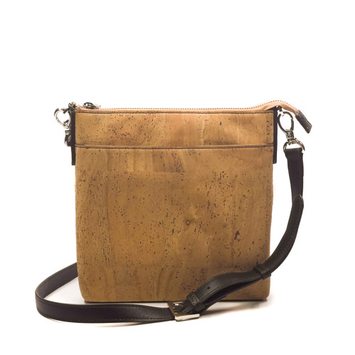 Queork Natural with Silver Hardware Leather Lafayette Square Bag