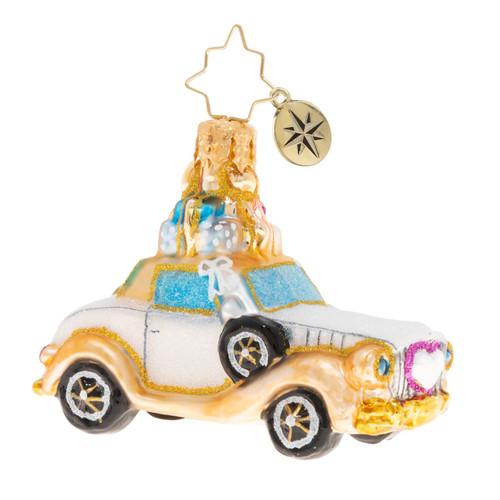 Wedding Bliss Chariot Little Gems Ornament by Christopher Radko