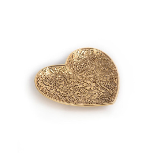 Jay Strongwater Colleen Floral Heart Trinket Tray - Special Order