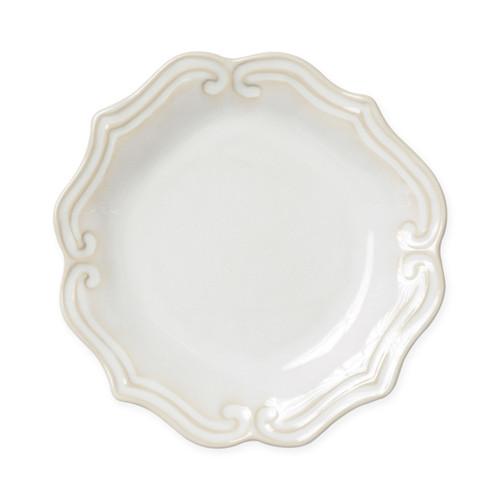 Vietri Incanto Stone Linen Baroque Salad Plate