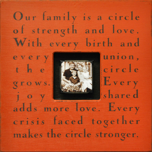 Terra Cotta Our Family Is A Circle Photobox by Sugarboo Designs - Special Order