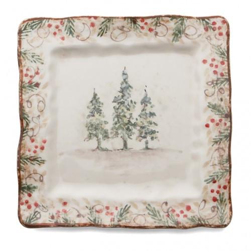 Natale Square Plate - Arte Italica