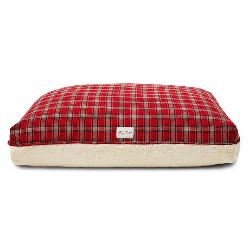 Small  Plaid Sherpa Rectangle Dog Bed Coverby Harry Barker - Special Order