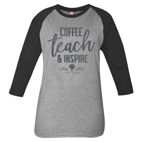 XXLarge Coffee, Teach & Inspire Simply Faithful Tee by Simply Southern