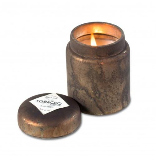 Smoke Tobacco Bark 9 oz. Mountain Fire Glass Jar Candle by Himalayan Candles