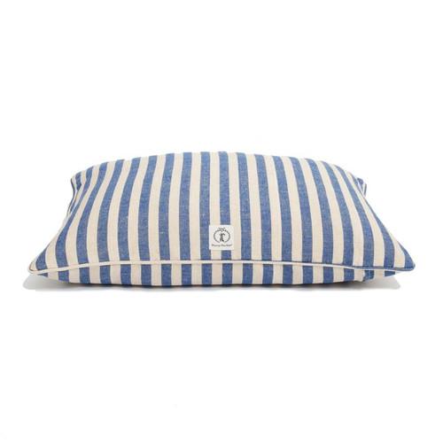 Medium Blue Vintage Stripe Envelope Dog Bed Cover by Harry Barker - Special Order