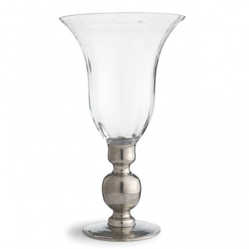 Giovanna Vase with Pewter Stem - Arte Italica