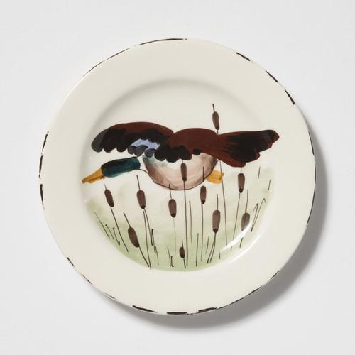 Vietri Wildlife Mallard Salad Plate - Special Order