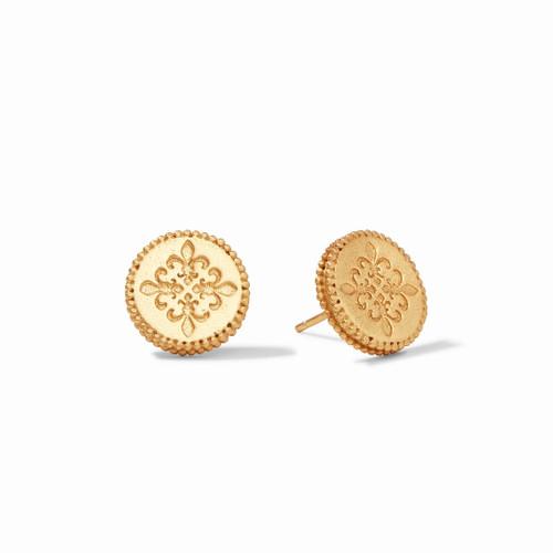 Julie Vos Fleur de Lis Stud Earring - Gold