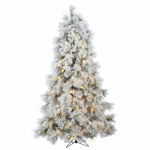 Flocked 7.5 ft. Northern Pine by Sterling Tree