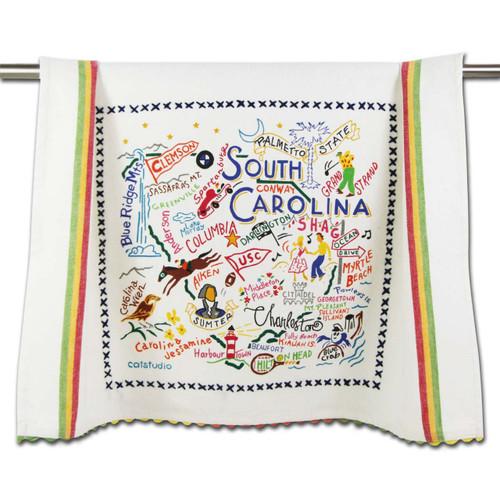 South Carolina Dish Towel by Catstudio