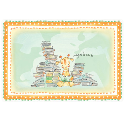"""Imagine the World Anti-Slip 17"""" x 11.5"""" Placemat by Baby Cie"""