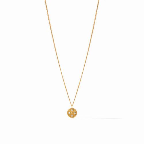 Julie Vos Paris Charm Necklace - Gold Pearl