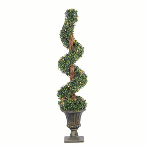 Potted 4 ft. Boxwood Spiral Tree by Sterling Tree