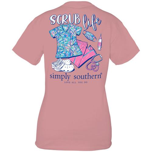 Medium Scrub Crepe Short Sleeve Tee by Simply Southern