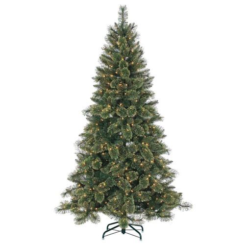 Hard / Mixed Needle Gold Glitter 7.5 ft. Cashmere Pine by Sterling Tree
