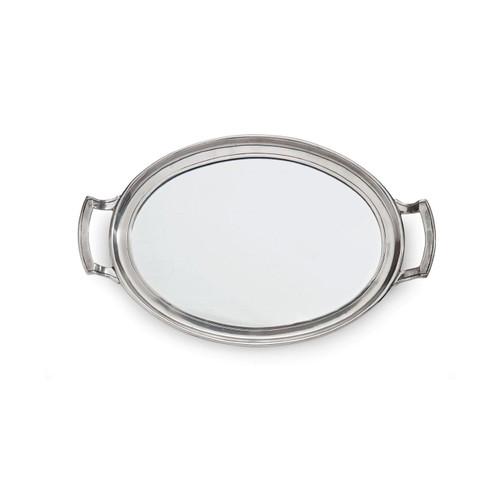 Roma Mirror Tray with Handles - Arte Italica