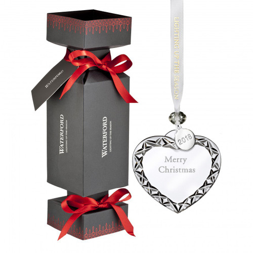 Cracker with Heart Merry Xmas Ornament by Waterford