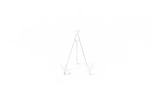 White Medium Flare Plate Stand by Happy Everything!