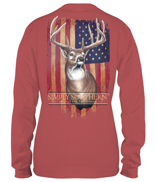 Small Deer Spice Unisex Long Sleeve Tee by Simply Southern