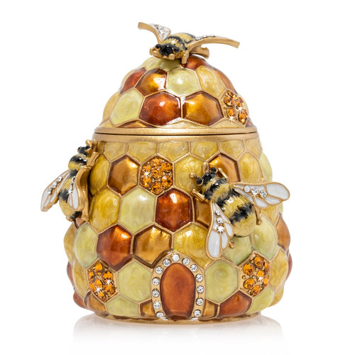 Jay Strongwater Honey Beehive Box - Special Order